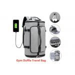 Anti Theft Zipper Open Nylon Leisure Backpack With USB Charging Port for sale