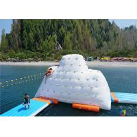 China 14′ Inflatable Climbable Iceberg For Summary Holiday , Inflatable Water Games factory
