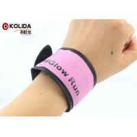China Colorful Glowing Flashing Light Armband Sport Running Safety LED Light Bracelet for sale