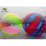 Durable 1.0mm PVC Inflatable Water Ball Large Transparent Multicolored Strips for sale
