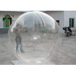 Clear Transparent PVC 2m Dia Inflatable Aqua Ball / Water Ball With YKK Zipper for sale