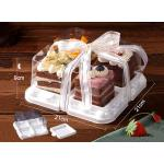 Length 21cm Clear 4PCS Disposable Square Cake Trays for sale