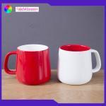 Lead Free Glazed Ceramic Coffee Mugs Microwave Safe Large Capacity Customized Logo for sale