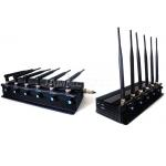 Adjustable 3G 4G Cell Phone Signal Jammer With 6 Powerful Antennas for sale
