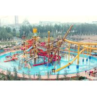 Big Interactive Fiberglass Water Play House With Water Slide / Aqua Park Equipment for sale