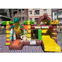 Dinosaur Park Inflatable Bounce Slide Combo Jumping Castle With Slide For Inflatable Games for sale