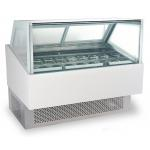 China 240V/50Hz Ice Cream Cake Display Freezer , Air Cooling Ice Cream Fridge for sale