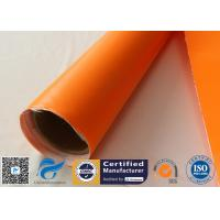 China One Side Orange Fire Blanket silicone coated fiberglass cloth 500GSM 0.5mm Thickness for sale
