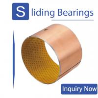 No Lead No Oil Self Lubricating Polymer Plain Bearings RoHS Certification for sale