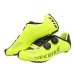 Fluorescent Yellow Cycling Shoes / Carbon Fiber High Stiffness Light Weight Bike Shoes for sale
