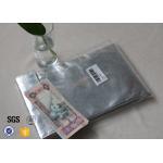 comfortable Glass Fibre Cloth Fire Resistant Document Bag / Fireproof Cash Pouch for sale