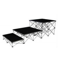 Small Portable Aluminum Stage Platform Folding Stage 18mm Black for sale