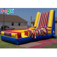 Customized Commercial Inflatable Sports Games Climbing Jumping Inflatable Sticky Wall for sale