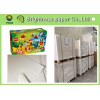 China One Side Coated White Cardboard Sheets For Packaging Boxes Eco Friendly for sale