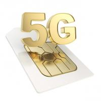 Custom Made Pvd Coating Service 5G SIM Card / Bank Cards Chip Pvd Gold Plating for sale