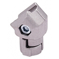 Sandblasting Silver ADC-12 Metal Tube Connectors Aluminum Alloy AL-13 for sale
