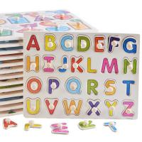 DIY Alphabet Letter Paper Jigsaw Puzzle , Custom Made Puzzles For Kids for sale