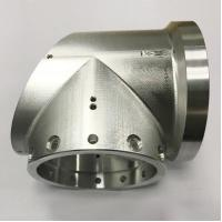 China Silver Tee Joint Custom Made Aluminum Parts Aluminum CNC Milling Service for sale