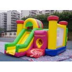 Outdoor Kids Inflatable Bouncy Castle With Slide And Pillars Inside Made Of Best Pvc Tarpaulin