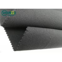 China Medium Weight 76gsm Twill Weave Interlining Fabric with PA double dot for sale