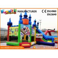 Giant Commercial Bouncy Castles / Sewed And Stitched Inflatable Bouncer For Kids for sale