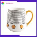 Nordic Talbeware Set Custom Ceramic Coffee Mugs , Ceramic Handprinted Cups 340ml for sale