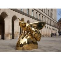 Contemporary Art Titanium Finish Stainless Steel Honey Bee Sculpture for sale