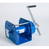 China 0.5T Steel Used Manual Anchor Winch / Winch Drum Brake With Self Locking Brake for sale