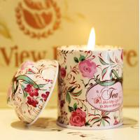 Luxury Tin Scented Candle Handmade Jar Candles for sale