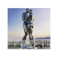 Square Decoration Modern Stainless Steel Sculpture Metal Lover Sculptures for sale