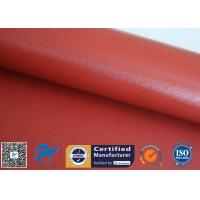 China 1mm Bright Red Silicone Coated Fiberglass Cloth For Thermal Insulation Jacket for sale