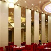 Banquet Hall Acoustic Movable Walls Wooden Soundproof Sliding Room Folding Partitions for sale