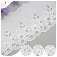 Cotton Netting Trim / Custom Embroidered Lace Trim By The Yard For Decoration for sale
