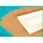 China 40G 50G 80G Virgin Uncoated White Sack Kraft Paper / Brown Craft Paper Jumbo Roll for sale