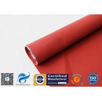 China 510gsm 0.5mm Red Silicone Coated Fiberglass Fabric Oil Resistant Material for sale