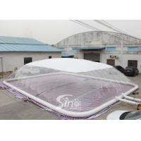 Custom Size Inflatable Swimming Pool Cover Dome Tent With Water Tube For Swimming Pool Use for sale