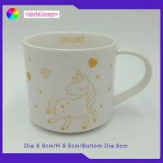 Eco - Friendly Ceramic Coffee Mug Set Unicorn Decal Stacking Coffee Mug Set for sale