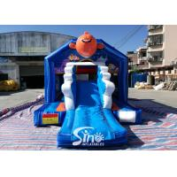 China small inflatable bounce house bouncy Castle With Slide Combo Jumper For Inflatable Games bounce house slide combo for sale