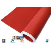 China 3784 C Glass Red Silicone Coated Fiberglass Cloth Thermal Insulation Cover supplier