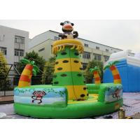 Commercial Grade Inflatable Rock Climbing Wall / Monkey Jungle Inflatable Climbing Tower For Children