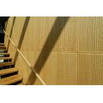 Auditorium Melamine Surface Perforated Wood Sheets / Music Studio Acoustic Panels for sale