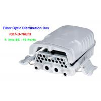 China 16 ~ 96 Cores Fiber Optic Distribution Box 4 into SC 16 Ports Wall mounting Holding pole for sale