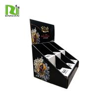 China Easily Assemble cardboard counter wine display stand  can load 6 bottles POP cardboard display box for sale