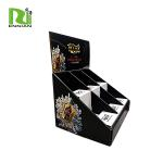 Easily Assemble cardboard counter wine display stand  can load 6 bottles POP cardboard display box for sale