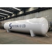 White 60000 Litres LPG Truck Tanker , Large Propane Gas Tanks Long Life Time for sale