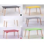 Modern Design MDF Wooden tea/CoffeeTable set White Dining Room Table dining room furniture modern side table