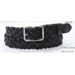 China Black PU / Webbing Tape Womens Braided Belt With Nickel Satine Buckle for sale