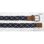 Navy & White Stretch Belts For Jeans , Mens Elastic Stretch Belts for sale