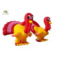 Red and Yellow Inflatable Turkey arches Merry Christmas Thanksgiving Promotion Advertising for sale