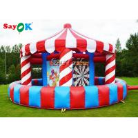 Carnival Inflatable  Sports Games Booth Basketball Toss Game 5- In -1 For All Ages for sale